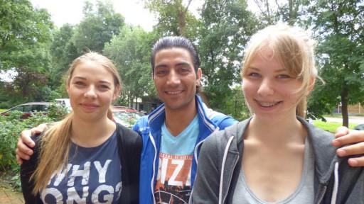 Auch Jugendliche ohne Migrationshintergrund sind mit dabei und fördern so das interkulturelle Verständnis